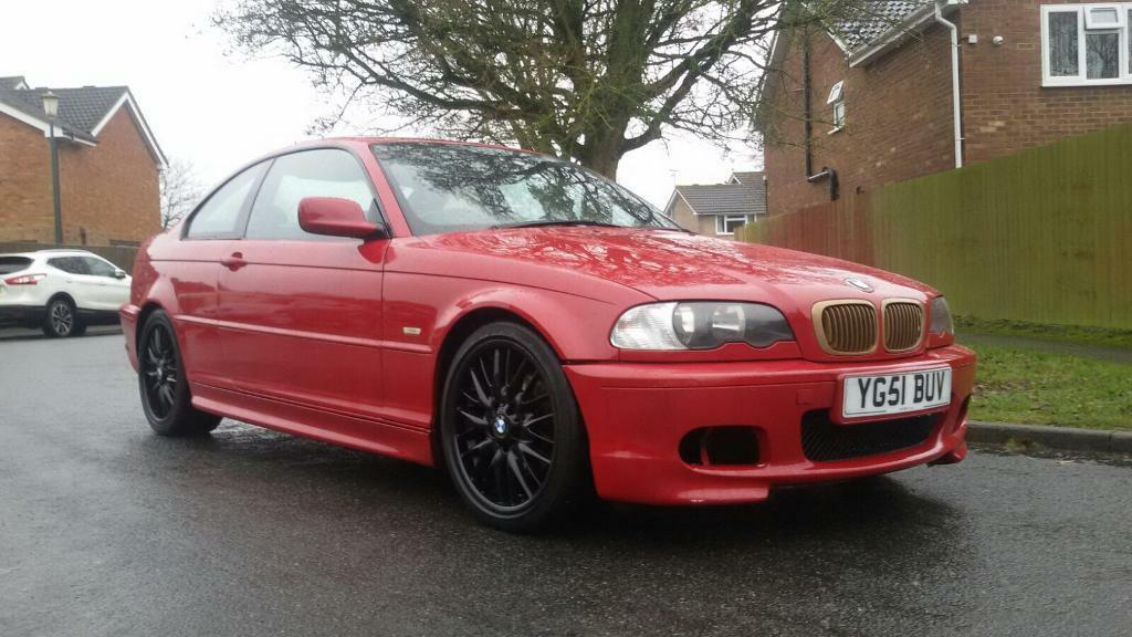 2001 Imola Red Bmw E46 325ci M Sport Coupe Auto In High