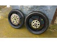 aprilia rs125 wheels £100 ono