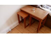 Antique nesting and folding end / card table