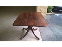 Mahogany antique pedestal tilt/top table suitable for an Annie Sloane makeover