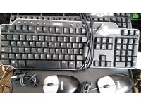 2 X Dell Keyboard and Mouse