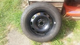 Wheel with dunlop tyre 195x65 R15 new