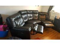 DFS Leather sofa double recliner