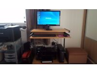 PC printer monitor Desk and chair