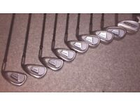 MacGregor DX golf clubs - irons 3,4,5,6,7,8,9,PW with DX graphite shafts