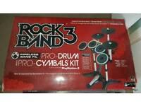PlayStation 3 Rock Band Drum Kit,guitar + Games