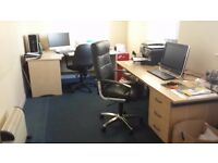 2 Office Desks and 2 Office Chairs