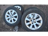 Vauxhall astra mk5 4 stud alloys