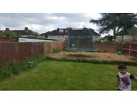12ft trampoline with enclosure for £50