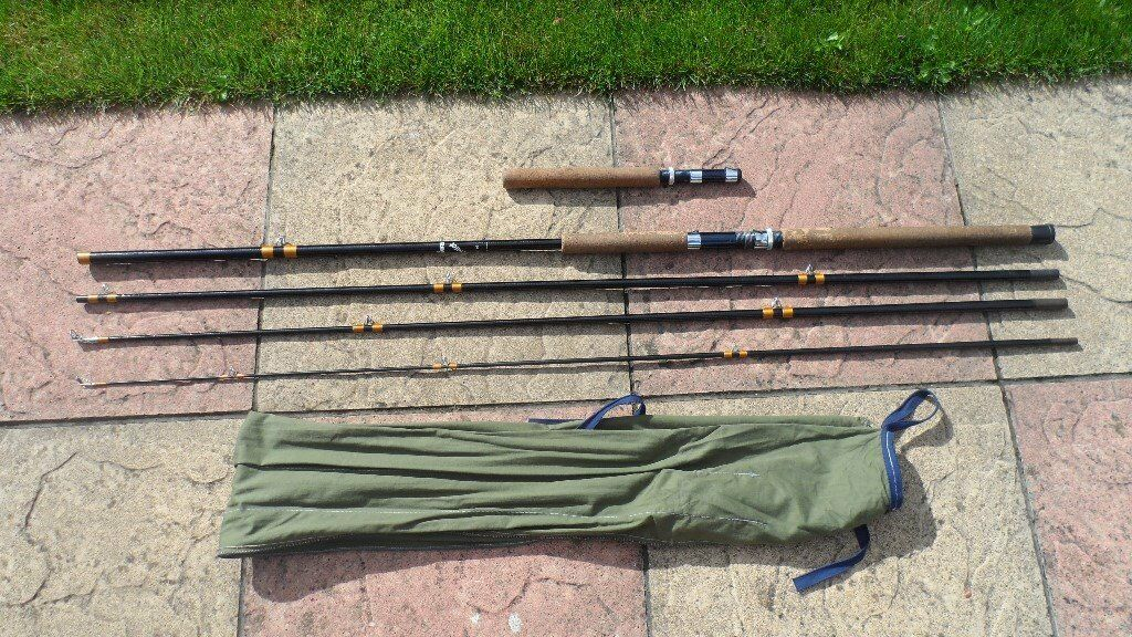 vintage collectable daiwa quintet 5 piece fishing rod beach pier boat and fly fishing all in onein Gosport, HampshireGumtree - lovely condition rare vintage daiwa quintet model 2710 6g, 5 pice fishing rod this is a multi purpose rod originally designed to be used as a beach , pier , boat , and fly rod just by swapping the tips and butt sections around this has been used but...