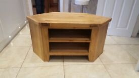 Solid oak coffee table, nest of 3 tables and corner TV unit from 'The Livingroom' furniture store