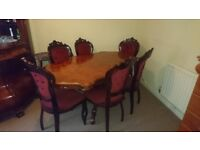 6 seater dining table, Beautiful table must go!