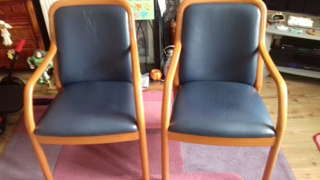 3 Rare Vintage Retro Teak Chairs