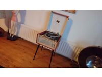VINTAGE 1964 DANSETTE BERMUDA MONARCH BSR DECK MAINS VINYL RECORD PLAYER ORIG LEGS GWO FAB SOUND