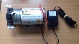 Reverse osmosis system pump for marine/tropical aquariums