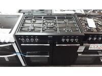 New Graded Belling 90cm Duel fuel range cooker - black