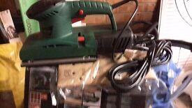 Unused electric sander still boxed