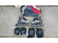Decathlon inline skates with bag and protectors!also other skates best to come and look on all !!!