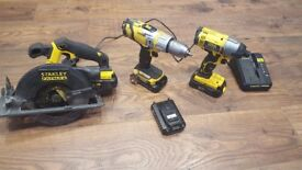 Stanley Fatmax 18v set REDUCED - MUST GONE TODAY BEFORE 4 PM