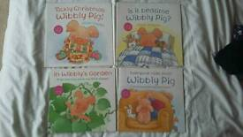 Set of 4 Wibbly Pig Books