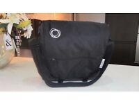 BUGABOO DARK GREY & BLACK CANVAS NAPPY / CHANGING BAG