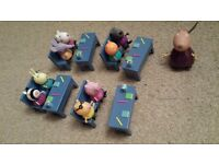 Peppa pig school set with 9 characters