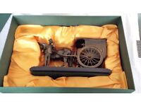 RINGTONS HORSE AND CART BRONZE FIGURE ( still in the box )