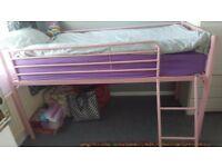 Girls single bed, mid sleeper