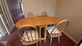 FOR QUICK SALE - Gate Leg Kitchen Table & Chairs