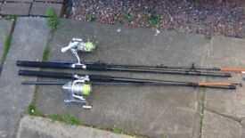 Fishing Rods and Reels with Bundles of brand new fishing tackle