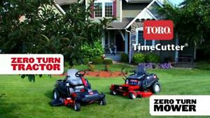Want to mow like a Pro? Own a Toro Mower for as little as $389! 0% Financing availble