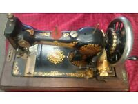 SEWING MACHINE JONES MANUAL ANTIQUE WITH CASE COVER IN WORKING CONDITION AVAILABLE FOR SALE