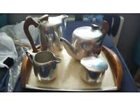 Silver tea tray set