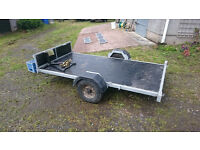 2 bike trailer with removable wings, never used since new