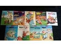 Asterix X 9 hardback book collection
