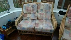 5 piece wicker conservatory furniture set