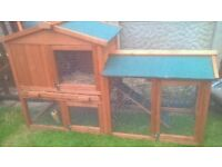 NEW GUINEAPIG HUTCH WITH COVER.