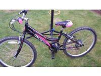 Girls rigid 24inch mountain bike