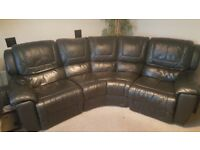 Black leather electric chair