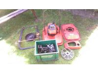 Flymo L400 two stroke petrol mower.