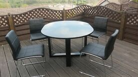Next Black Drop Leaf Table and chairs