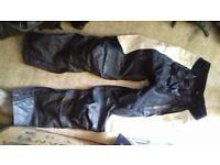 ladies bike leathers with boots, helmet