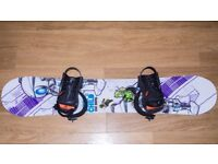 Snowboard ( Freestyle), Bindings and carry bag near new condition