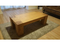 real wooden table, robust, great natural design, perfect condition