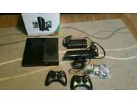 Xbox 360 Slim E (Latest model) & Kinect & 16 Games