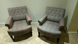 2 small armchairs