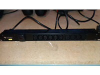 Integra 19 inch PDU - 10 x IEC13 sockets to UK 3 pin plug - for workbench or computer server rack