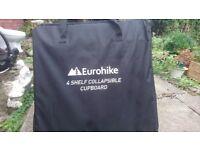 New Eurohike 4 Shelf Collapsible Cupboard Black