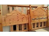 PINE SINGLE BED (MATTRESS NOT INCLUDED)
