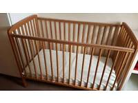 Baby's cot excellent condition & mattress